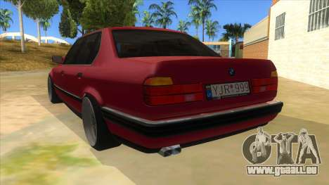 BMW E32 für GTA San Andreas zurück linke Ansicht