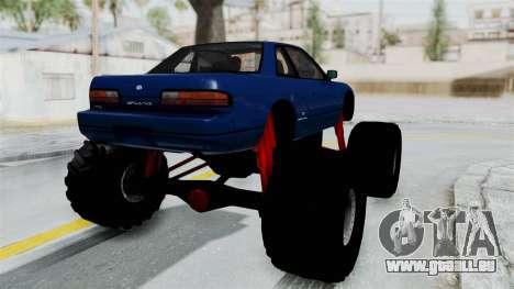 Nissan Silvia S13 Monster Truck für GTA San Andreas rechten Ansicht