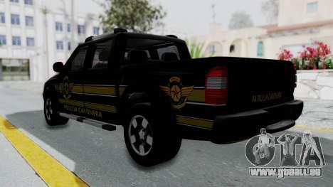 Chevrolet S10 Policia Caminera Paraguaya pour GTA San Andreas laissé vue