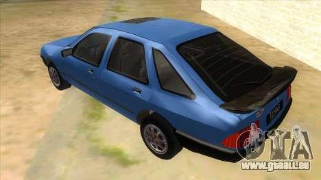 Ford Sierra 1.6 GL Updated für GTA San Andreas zurück linke Ansicht