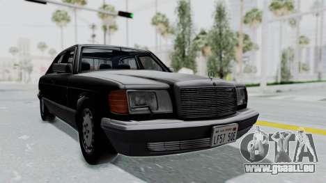 Mercedes-Benz 560SEL 1987 US-spec für GTA San Andreas