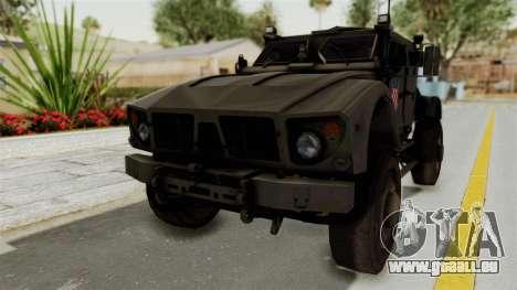 Croatian Oshkosh M-ATV Desert pour GTA San Andreas vue de droite