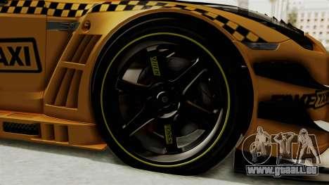 Nissan GT-R Fake Taxi für GTA San Andreas Rückansicht