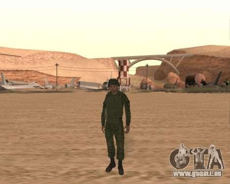 Privé d'infanterie motorisée de troupes pour GTA San Andreas troisième écran