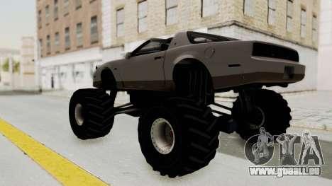 Pontiac Firebird Trans Am Monster Truck 1982 pour GTA San Andreas laissé vue