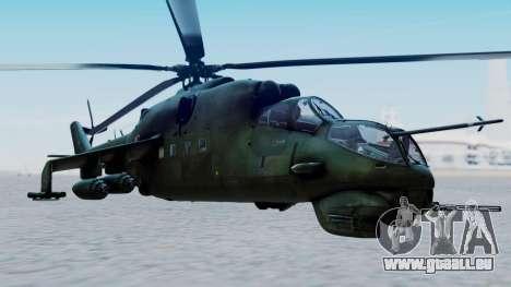 Mi-24V Polish Air Force 727 pour GTA San Andreas