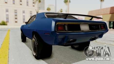 Plymouth Hemi Cuda 1971 Drag pour GTA San Andreas laissé vue