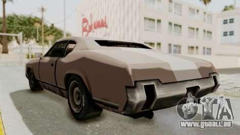 GTA Vice City - Sabre Turbo (Sprayable) pour GTA San Andreas sur la vue arrière gauche