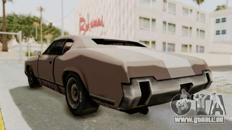 GTA Vice City - Sabre Turbo (Sprayable) für GTA San Andreas zurück linke Ansicht