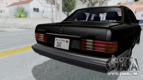 Mercedes-Benz 560SEL 1987 US-spec pour GTA San Andreas vue arrière