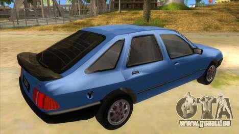 Ford Sierra 1.6 GL Updated für GTA San Andreas rechten Ansicht
