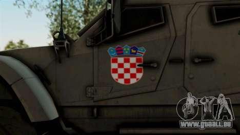 Croatian Oshkosh M-ATV Desert pour GTA San Andreas vue arrière