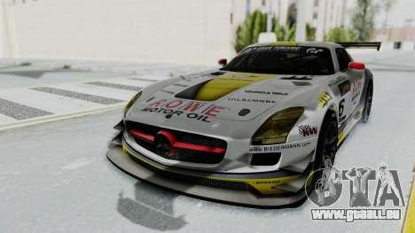 Mercedes-Benz SLS AMG GT3 PJ7 pour GTA San Andreas vue arrière