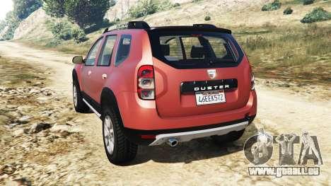 GTA 5 Dacia Duster 2014 hinten links Seitenansicht