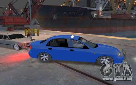 Daewoo Lanos Taxi pour GTA 4 Vue arrière
