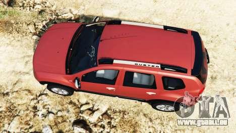 GTA 5 Dacia Duster 2014 vue arrière
