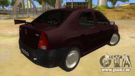 Dacia Logan Sport für GTA San Andreas rechten Ansicht