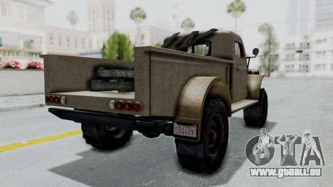 GTA 5 Bravado Duneloader Cleaner Worn pour GTA San Andreas sur la vue arrière gauche