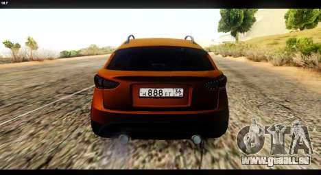 Infiniti FX37 pour GTA San Andreas sur la vue arrière gauche