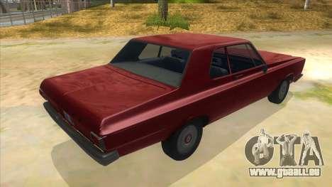 1965 Plymouth Belvedere 2-door Sedan pour GTA San Andreas vue de droite