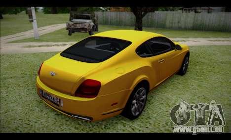 Bentley Continental für GTA San Andreas linke Ansicht