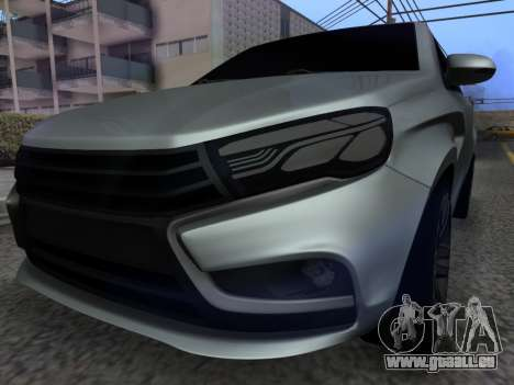 Lada Vesta HD (beta) für GTA San Andreas Rückansicht