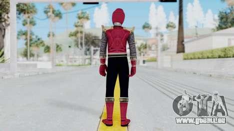 Power Rangers Ninja Storm - Crimson für GTA San Andreas dritten Screenshot