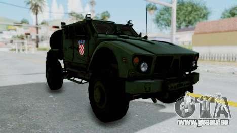 Croatian Oshkosh M-ATV Woodland pour GTA San Andreas vue de droite