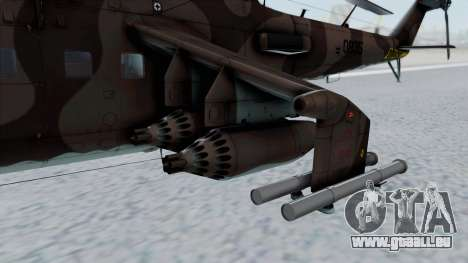 Mi-24V Soviet Air Force 0835 für GTA San Andreas rechten Ansicht