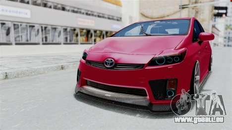 Toyota Prius 2011 Elegant Modification für GTA San Andreas zurück linke Ansicht