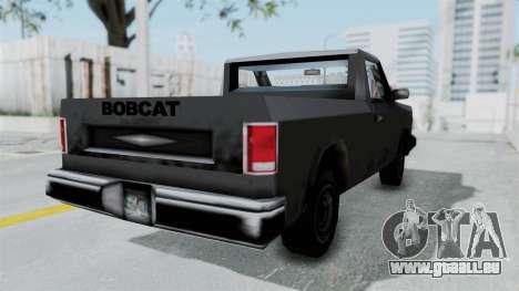 Beta VC Bobcat pour GTA San Andreas sur la vue arrière gauche