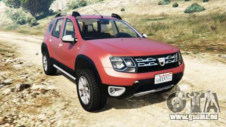 Dacia Duster 2014 pour GTA 5