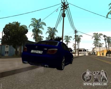 BMW M5 E60 v1.0 für GTA San Andreas Innenansicht