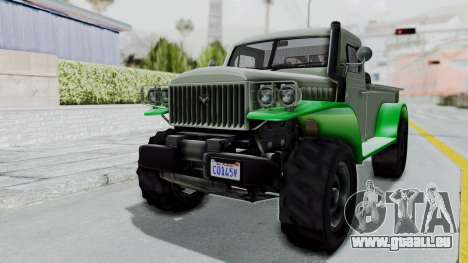GTA 5 Bravado Duneloader Cleaner IVF für GTA San Andreas rechten Ansicht