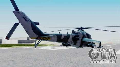 Mi-24V GDR Air Force 45 pour GTA San Andreas laissé vue