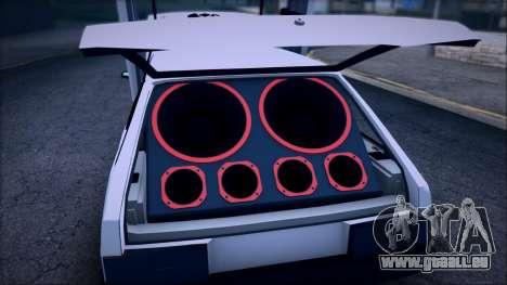 VAZ 2108 Lambo pour GTA San Andreas vue arrière
