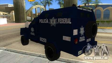 Black Scorpion Police für GTA San Andreas zurück linke Ansicht