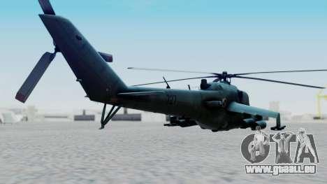 Mi-24V Polish Air Force 727 pour GTA San Andreas laissé vue