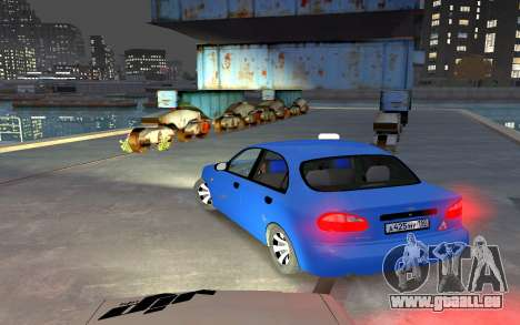 Daewoo Lanos Taxi pour GTA 4 Vue arrière de la gauche