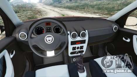 GTA 5 Dacia Duster 2014 arrière droit vue de côté