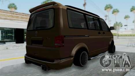 Volkswagen Transporter TDI Final für GTA San Andreas linke Ansicht
