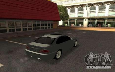BMW M3 E46 Tunable pour GTA San Andreas laissé vue
