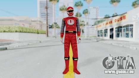 Power Rangers Ninja Storm - Red pour GTA San Andreas deuxième écran