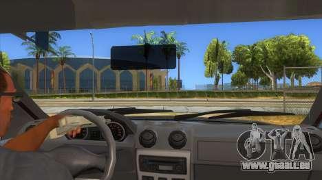 Dacia Logan Sport für GTA San Andreas Innenansicht