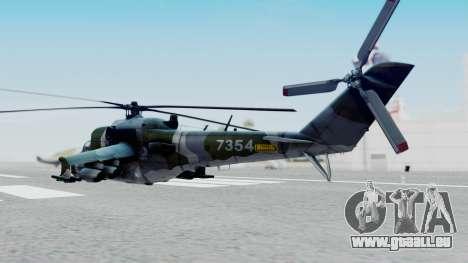 Mi-24V Czech Air Force 7354 pour GTA San Andreas laissé vue