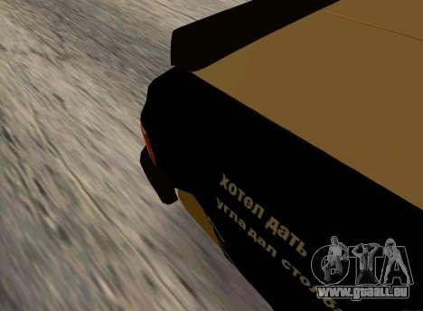 Volga 3110 Classic Bataille pour GTA San Andreas sur la vue arrière gauche