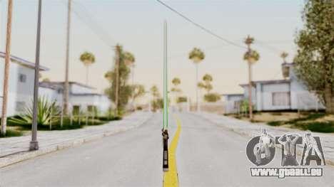 Star Wars LightSaber Green für GTA San Andreas zweiten Screenshot