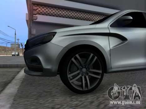Lada Vesta HD (beta) pour GTA San Andreas vue intérieure