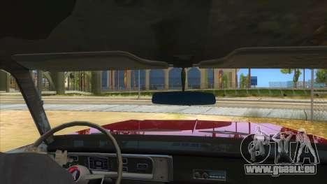 1965 Plymouth Belvedere 2-door Sedan pour GTA San Andreas vue intérieure