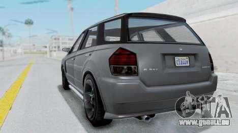 GTA 5 Benefactor Serrano IVF pour GTA San Andreas laissé vue